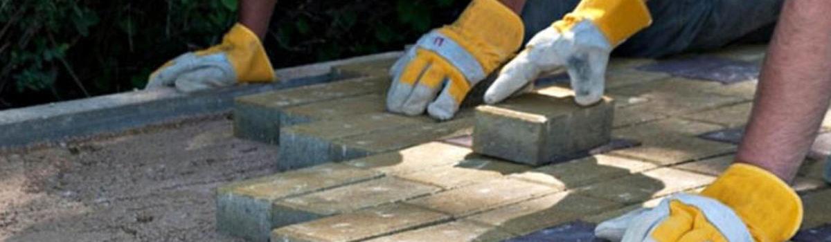 Подготовка укладки тротуарной плитки