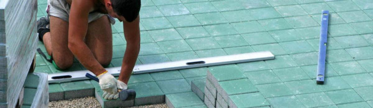 Укладка тротуарной плитки слои